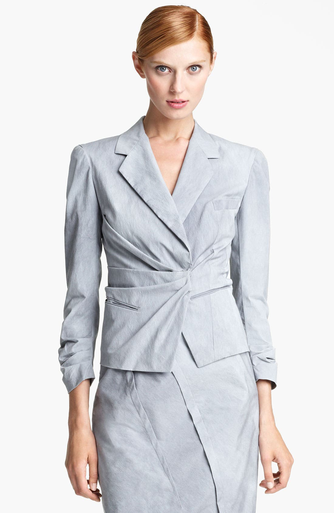 Main Image - Donna Karan Collection 'Mineral Paper' Crushed Jacket