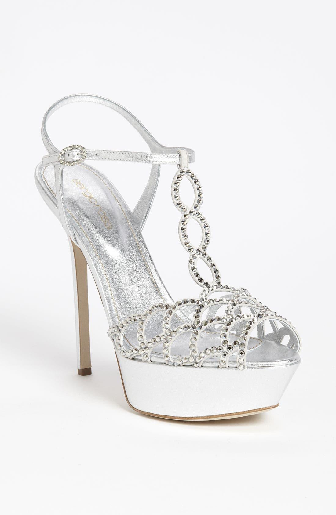 Alternate Image 1 Selected - Sergio Rossi Crystal Platform Sandal