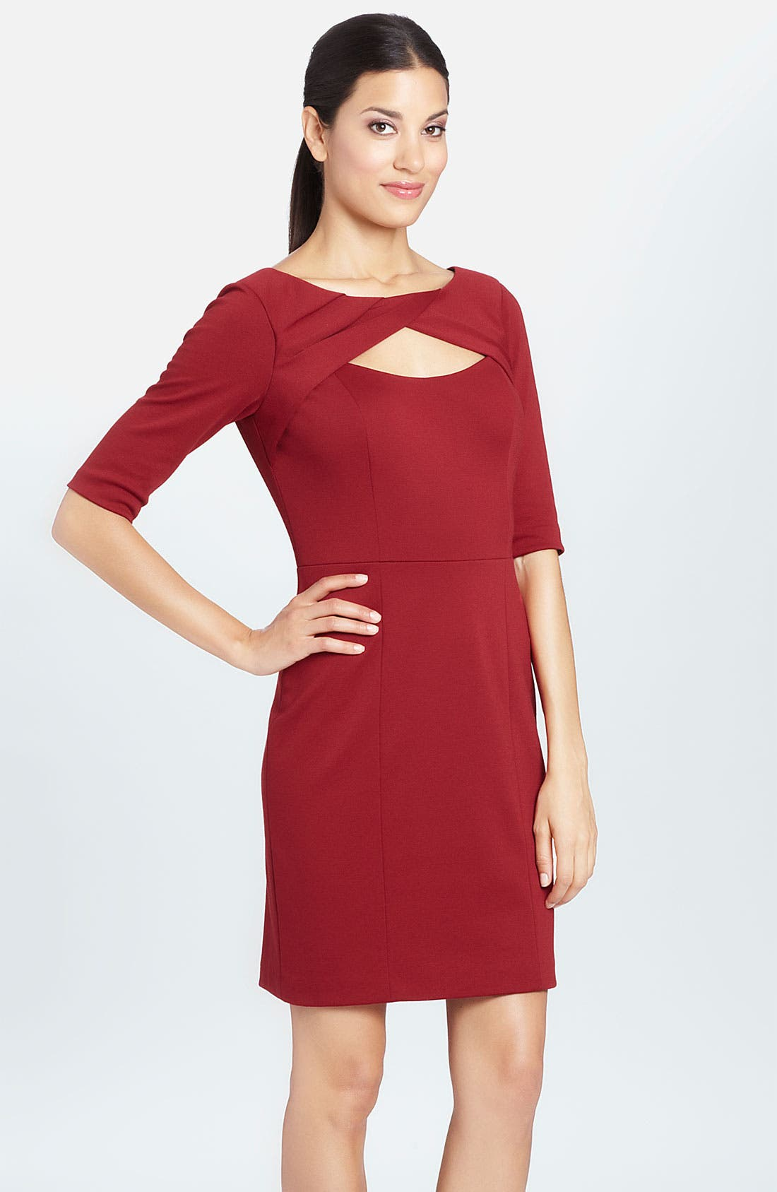 Main Image - Cynthia Steffe 'Parker' Front Keyhole Ponte Sheath Dress