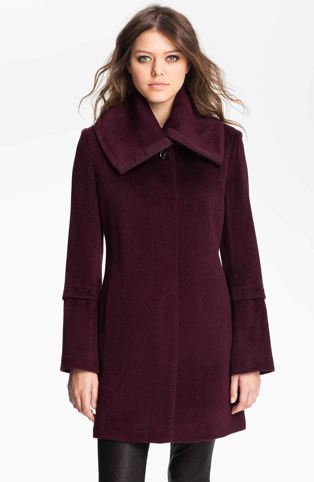 Main Image - Tahari 'Roxy' Envelope Collar Coat