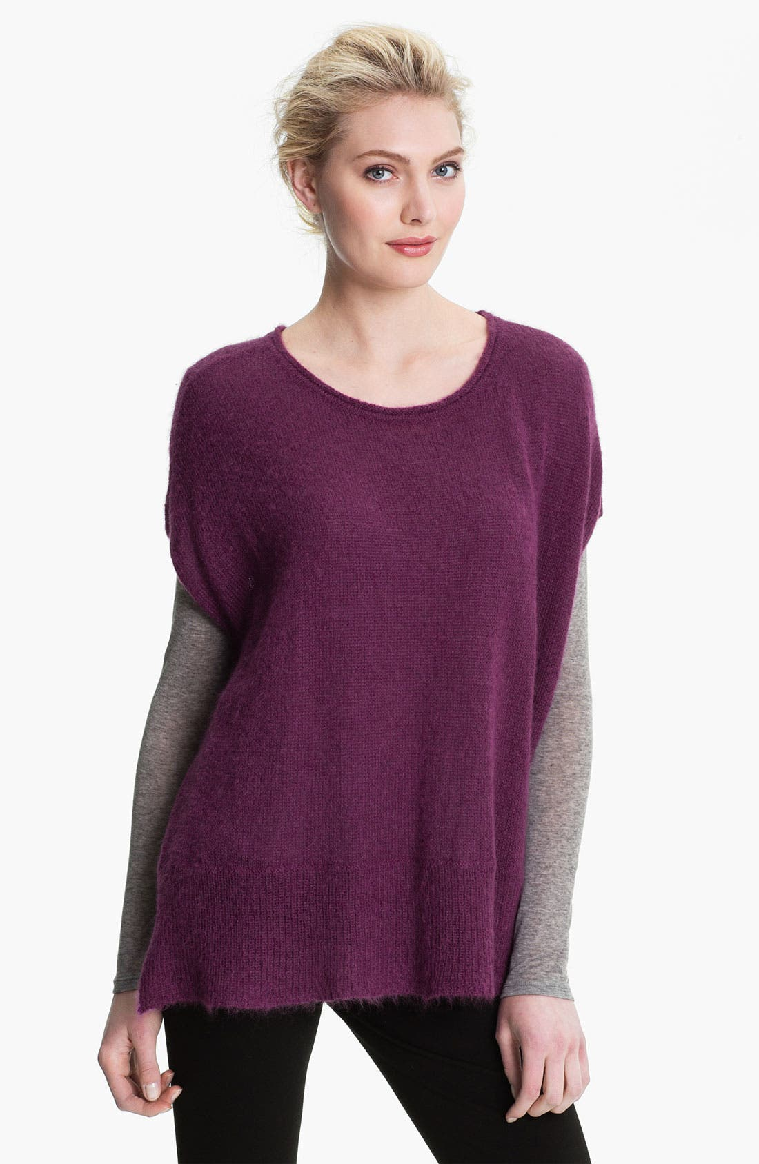 Alternate Image 1 Selected - Eileen Fisher Ballet Neck Boxy Sweater (Online Exclusive)