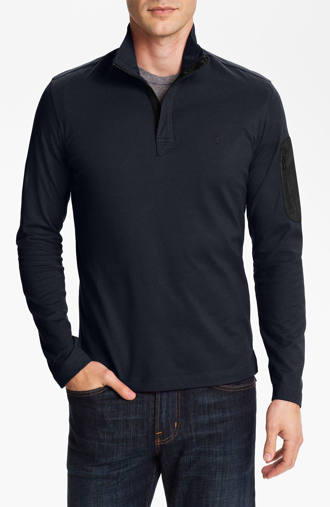 Alternate Image 1 Selected - Victorinox Swiss Army® Piqué Knit Quarter Zip Shirt (Online Exclusive)