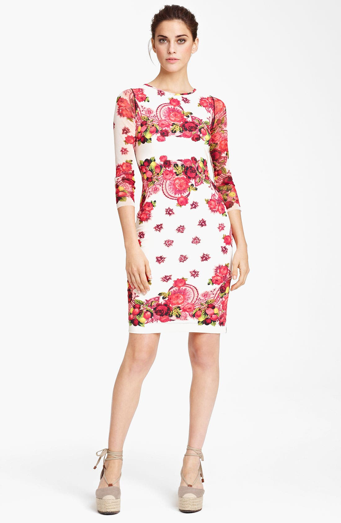 Alternate Image 1 Selected - Jean Paul Gaultier Fuzzi Rose Print Jersey Dress