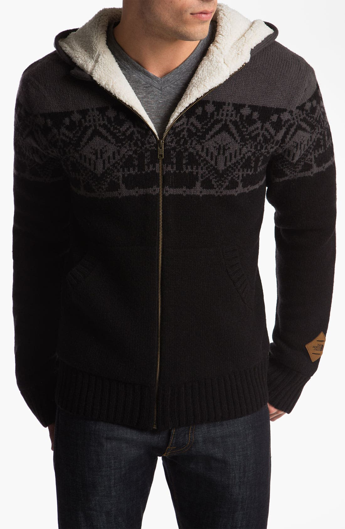 Alternate Image 1 Selected - The North Face 'Selawik' Hooded Zip Sweater