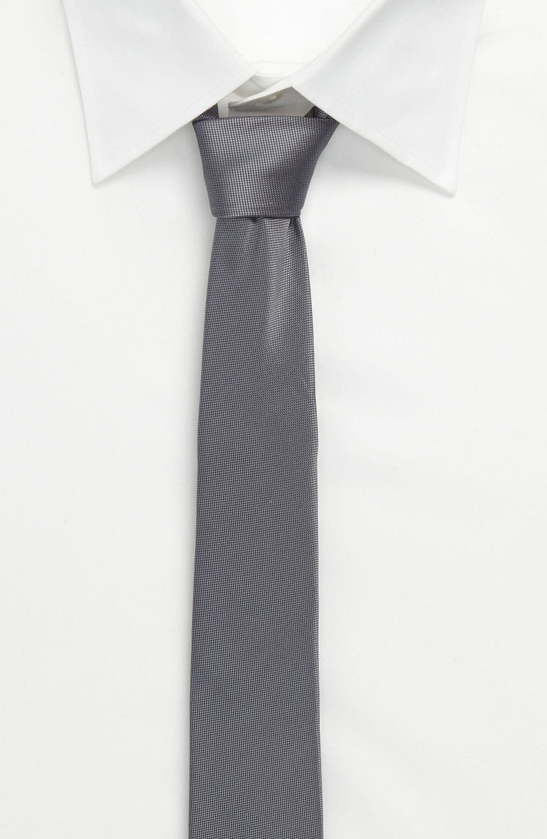 Alternate Image 3  - Topman Narrow Textured Tie
