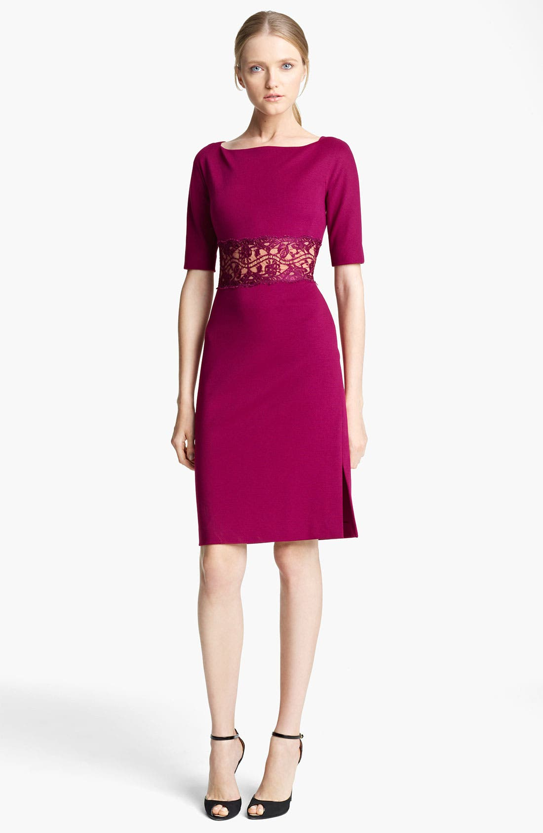 Main Image - Emilio Pucci Lace Waist Punto Milano Dress