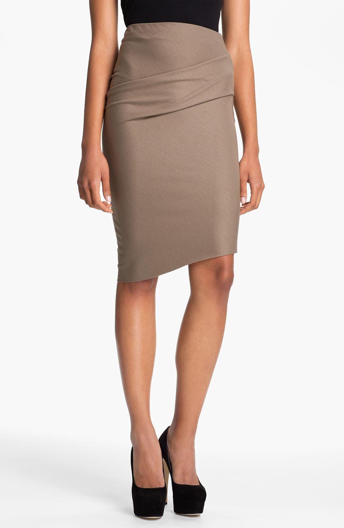 Alternate Image 1 Selected - Halston Heritage Draped Waist Pencil Skirt