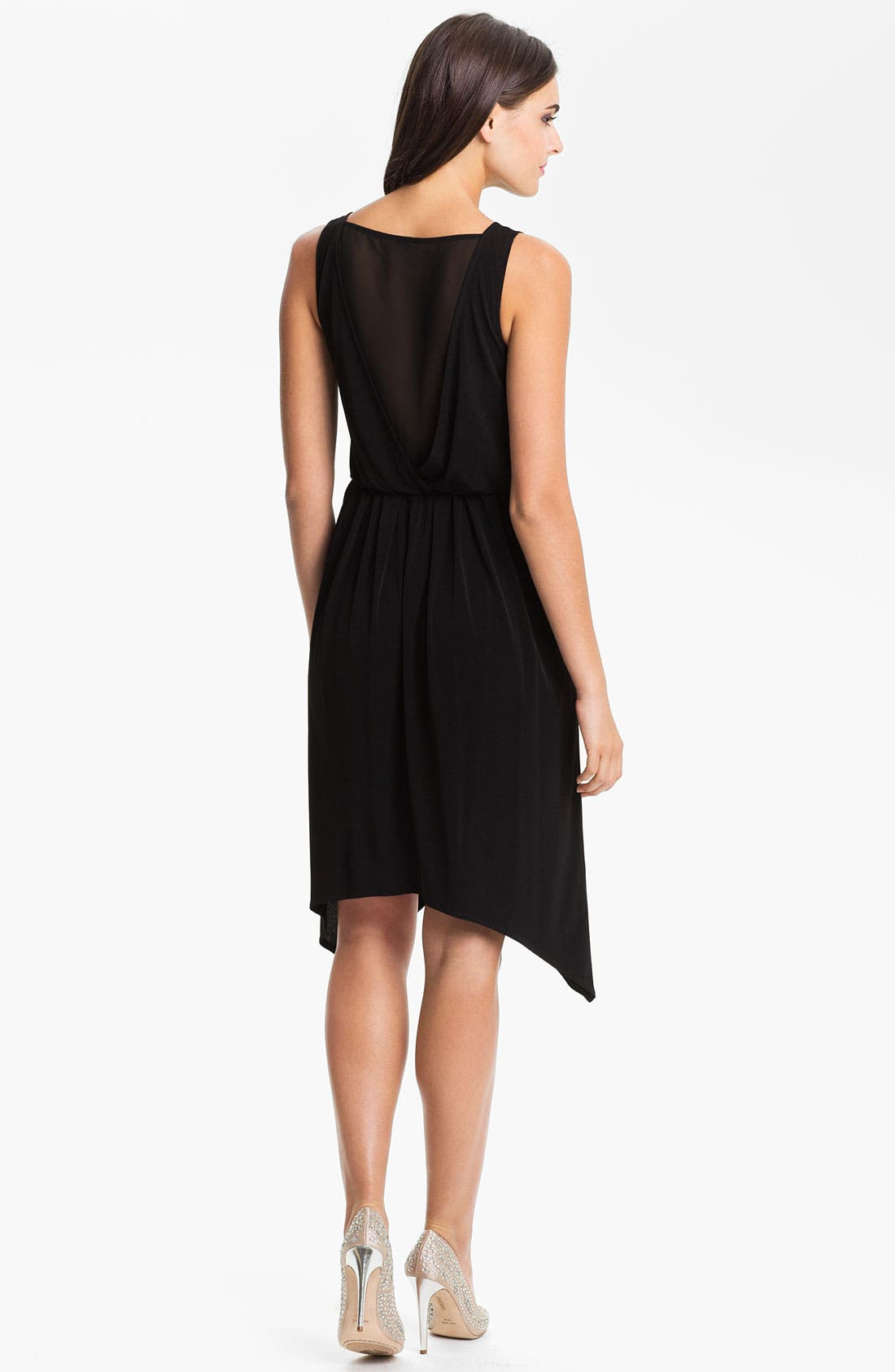Alternate Image 2  - Vince Camuto Sheer Back Blouson Dress