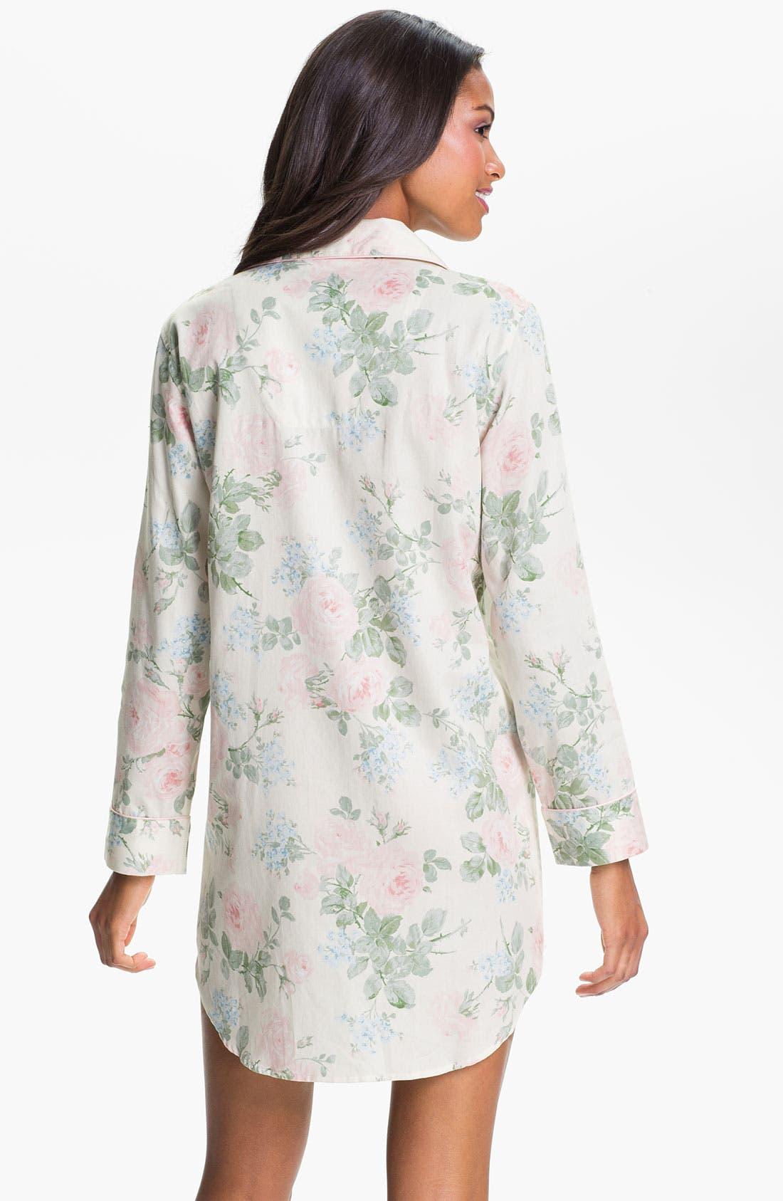 Alternate Image 2  - Lauren Ralph Lauren Sleepwear Floral Print Sleep Shirt