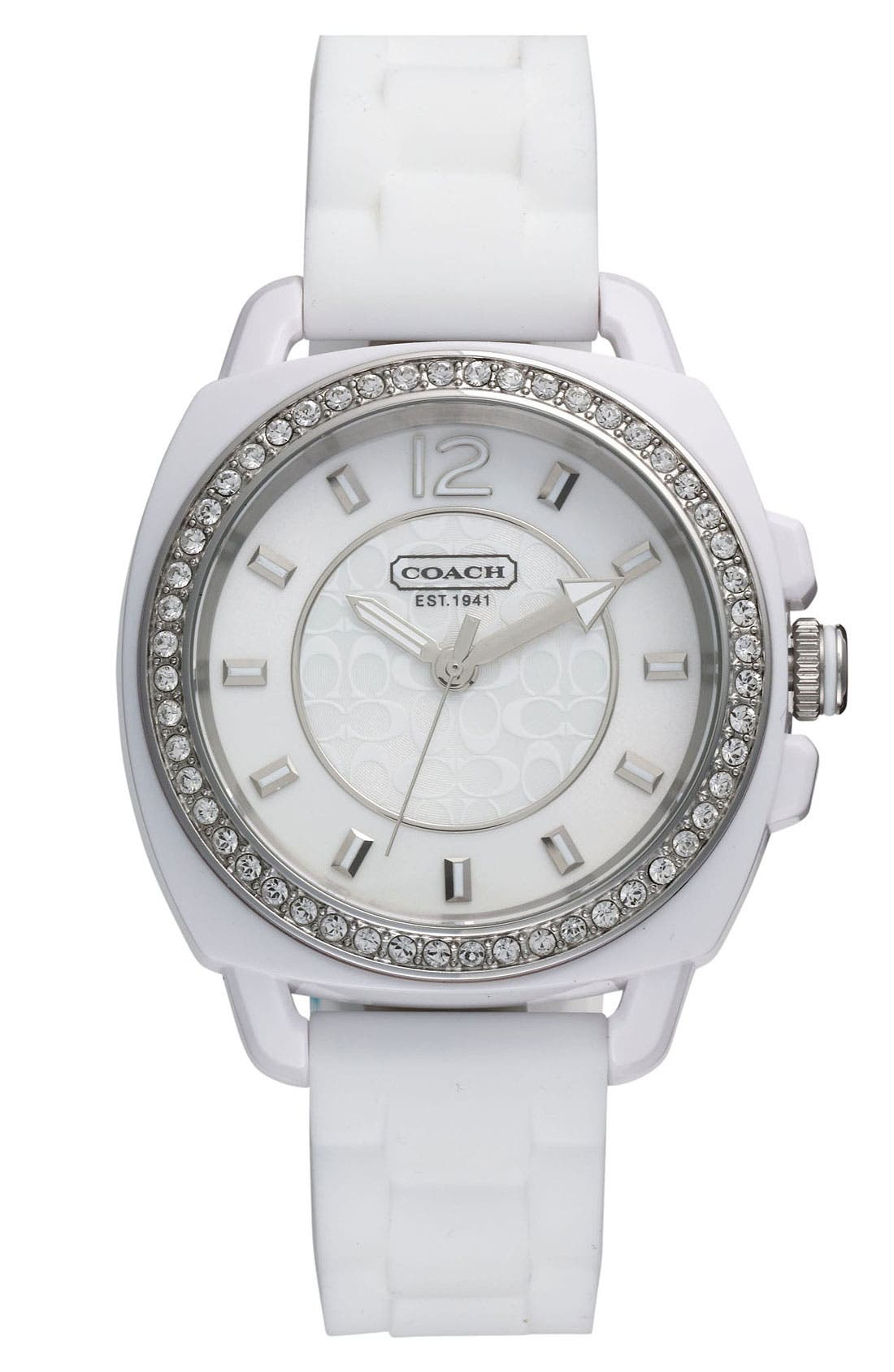 Alternate Image 1 Selected - COACH 'Boyfriend' Crystal Bezel Watch, 39mm