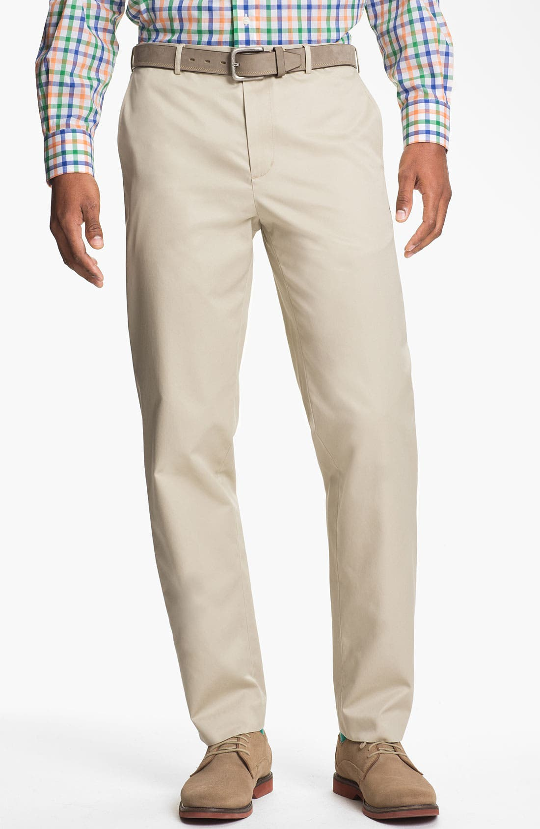 Alternate Image 1 Selected - Calibrate Flat Front Non-Iron Supima® Cotton Pants