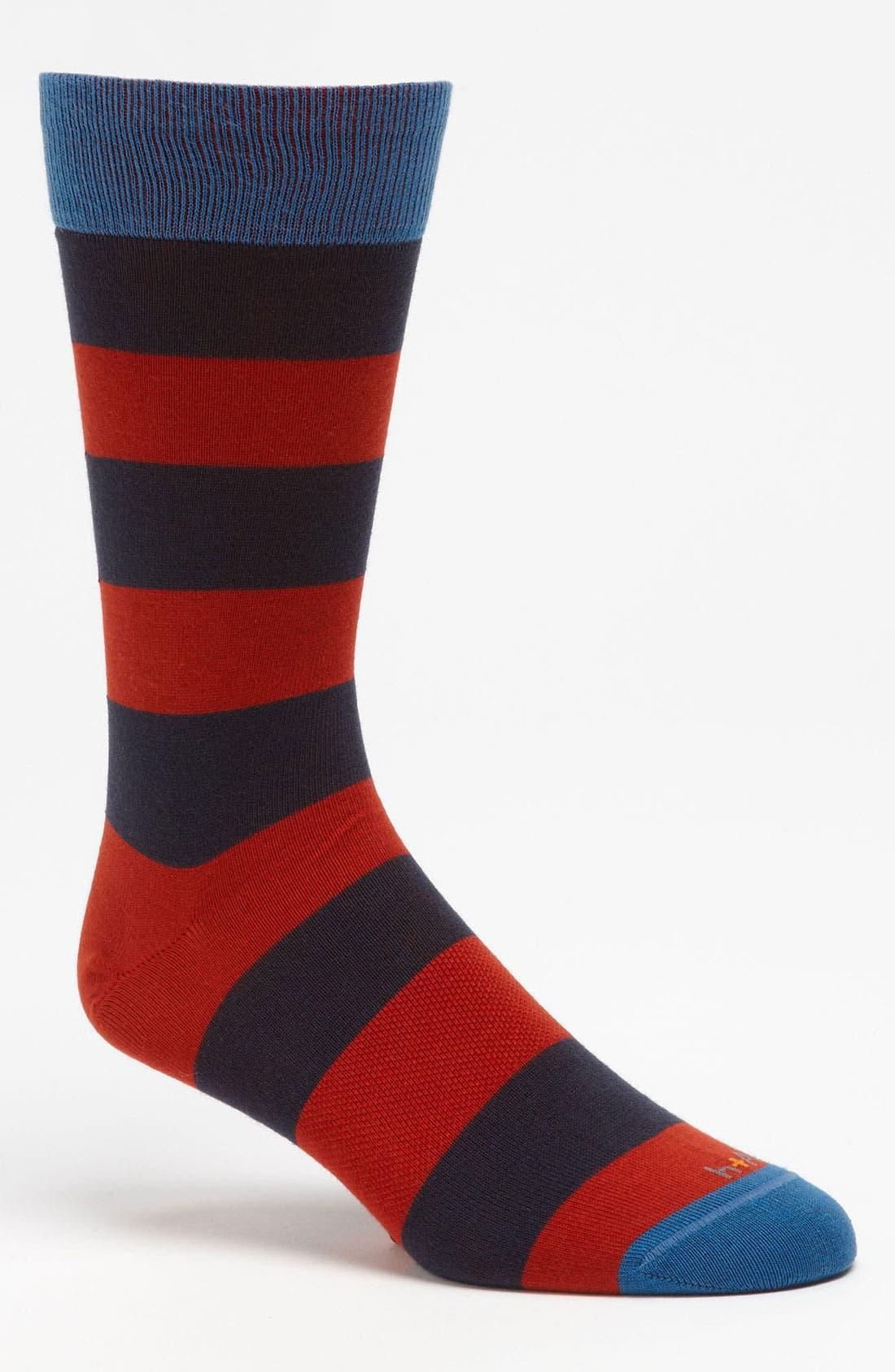 Alternate Image 1 Selected - hook + ALBERT Rugby Socks