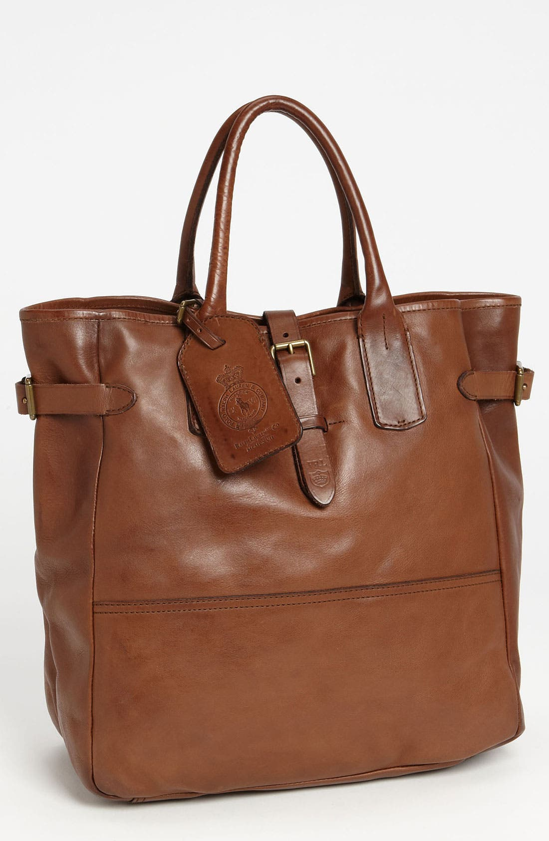 Alternate Image 1 Selected - Polo Ralph Lauren Leather Tote