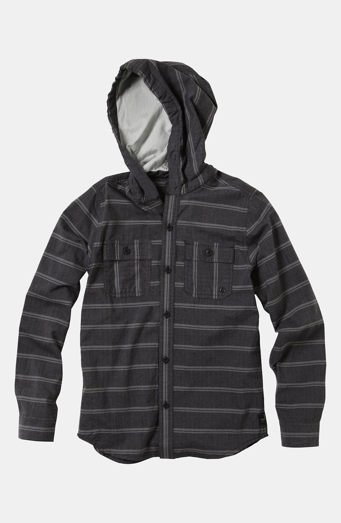 Alternate Image 1 Selected - Quiksilver 'Lunch Stoke' Hooded Shirt (Big Boys)