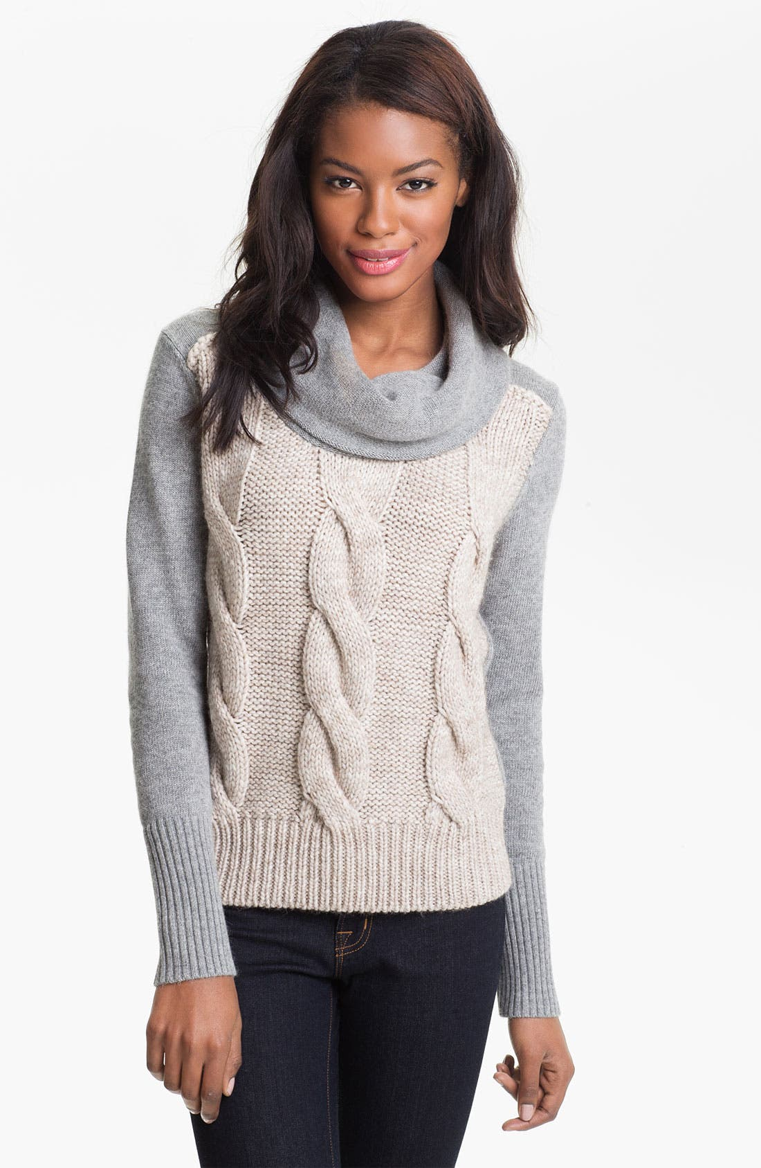Alternate Image 1 Selected - DKNYC Cable Front Sweater