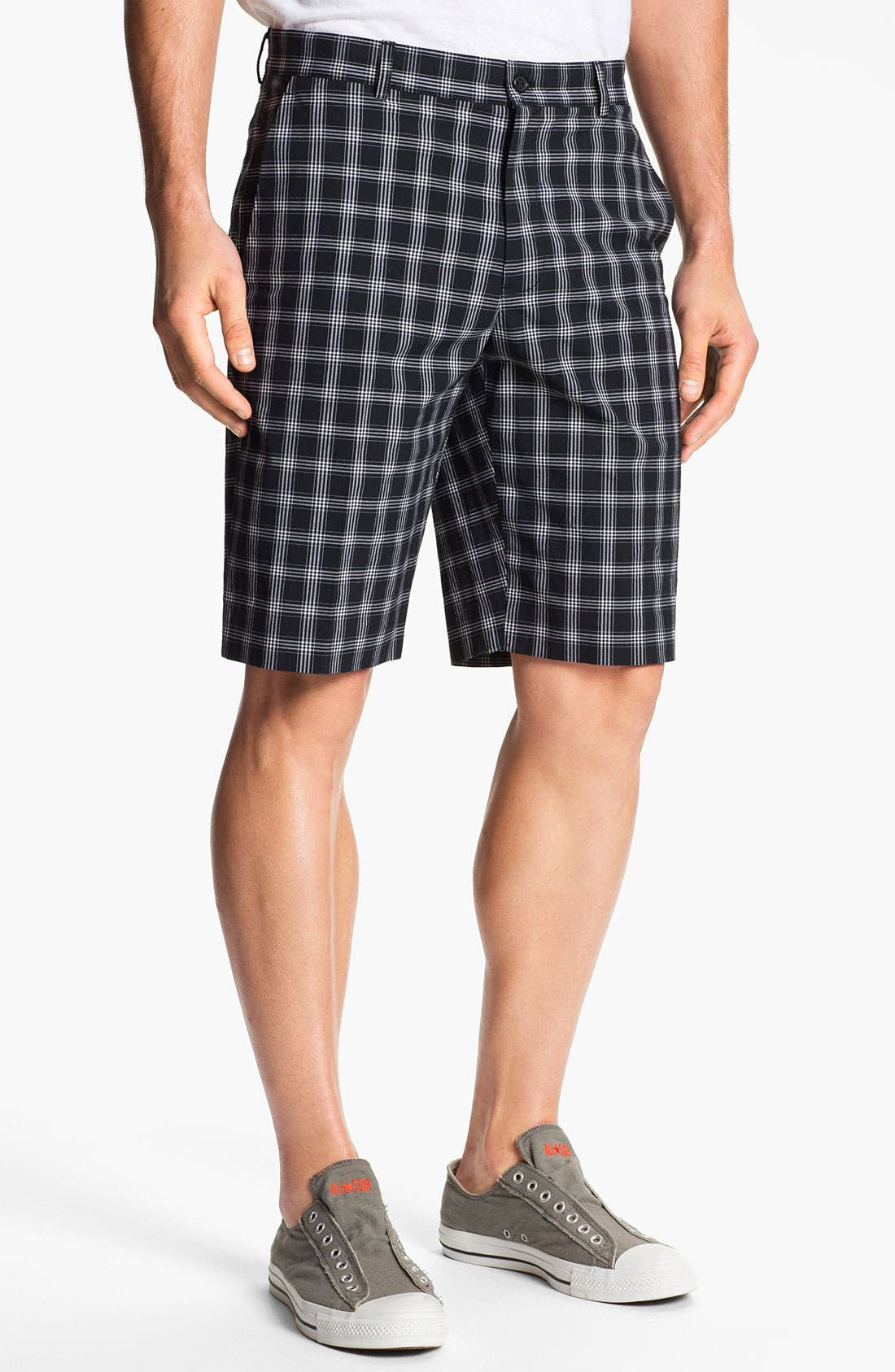 Main Image - Michael Kors 'Noah' Flat Front Shorts (Online Only)