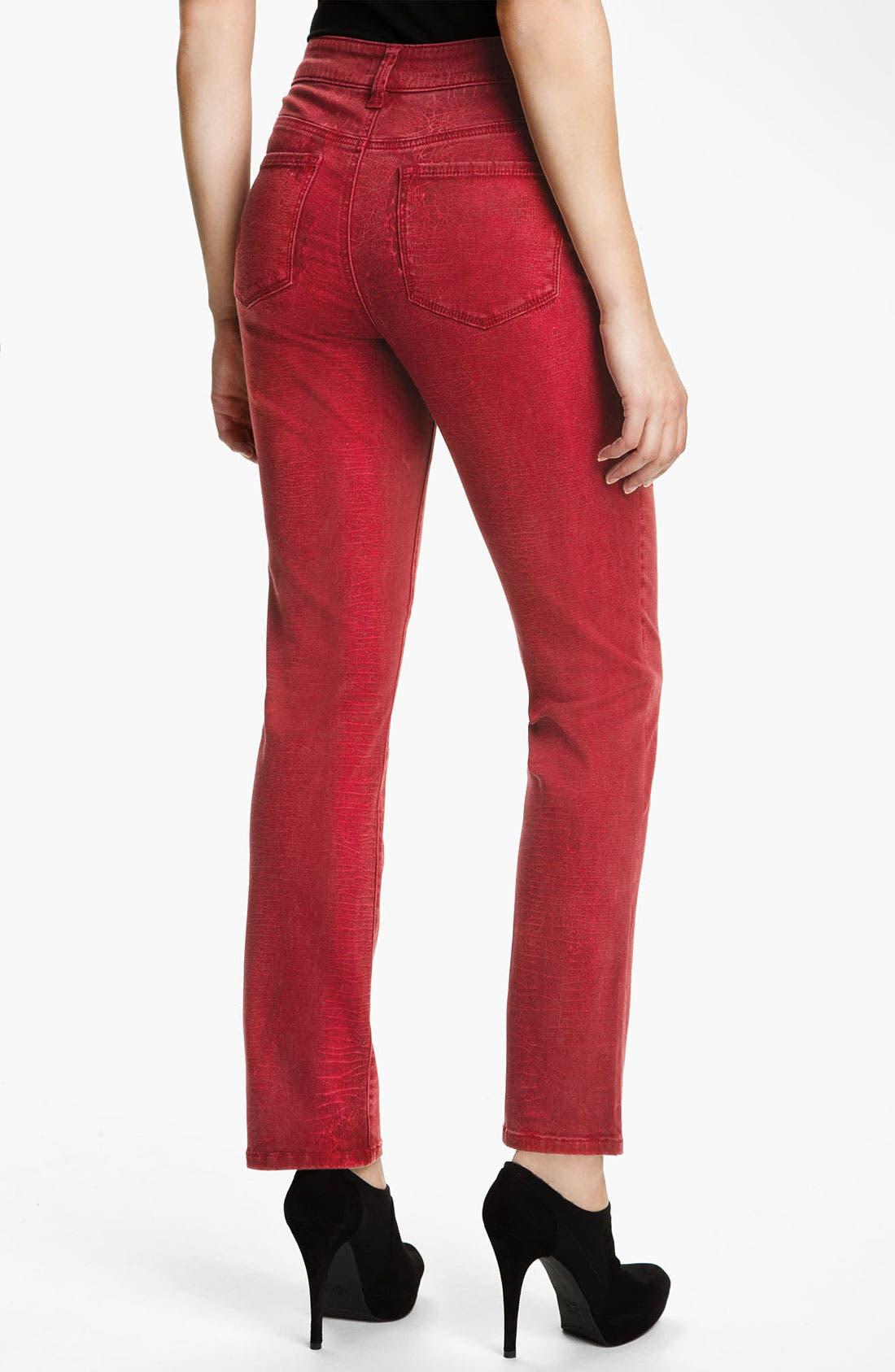 Alternate Image 2  - NYDJ 'Sheri - Shattered' Print Skinny Twill Jeans