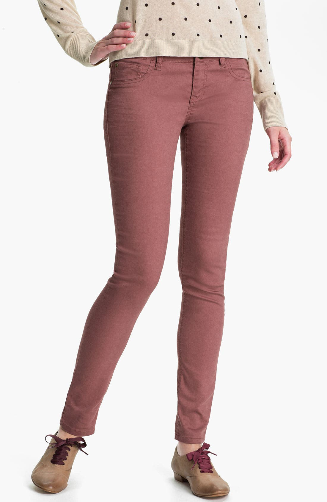 Alternate Image 2  - Fire Skinny Jeans (Juniors)