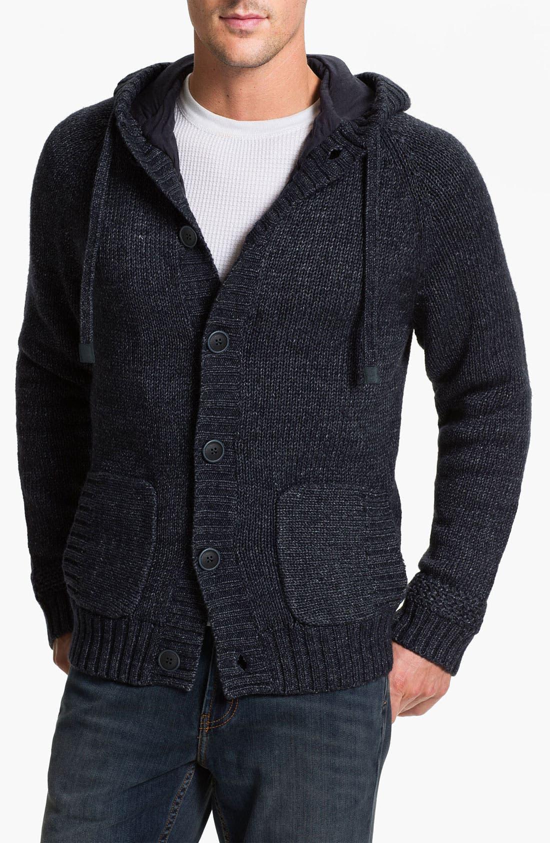 Alternate Image 1 Selected - UGG® Australia 'Fulton' Hooded Button Cardigan