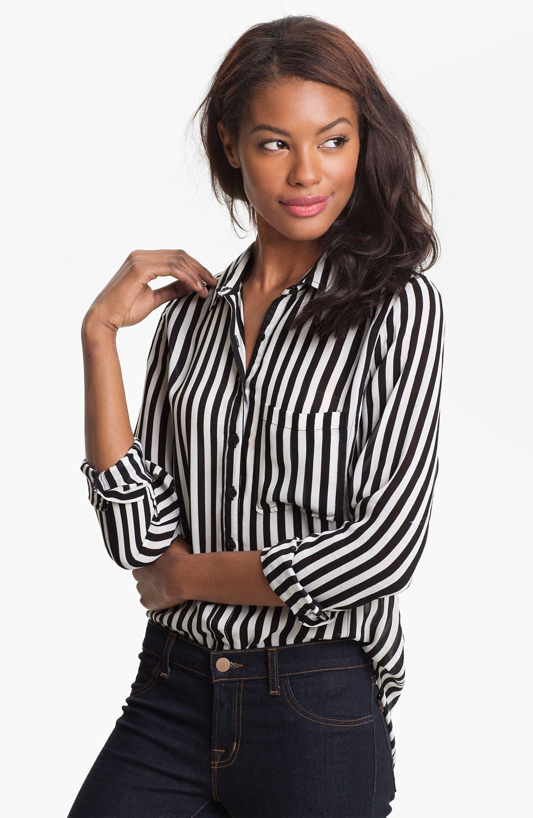 Alternate Image 1 Selected - Caslon® Stripe Chiffon Shirt