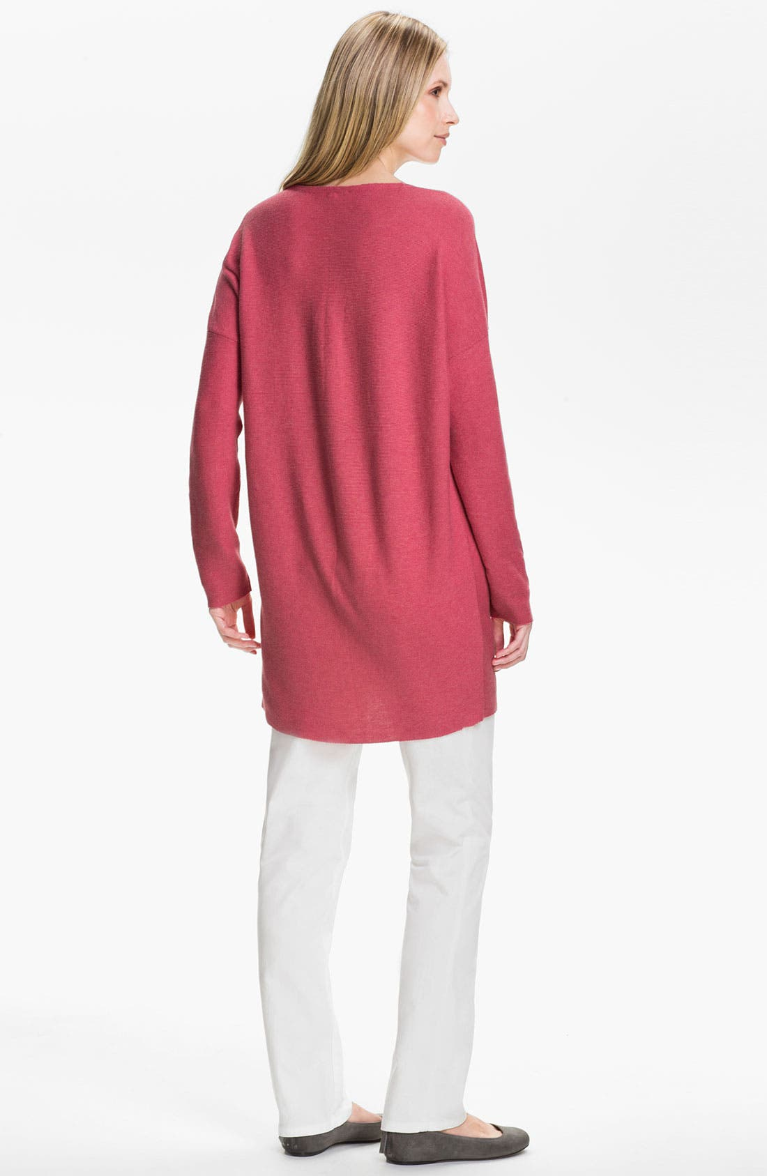 Alternate Image 5  - Eileen Fisher V-Neck Tunic Sweater (Online Exclusive)