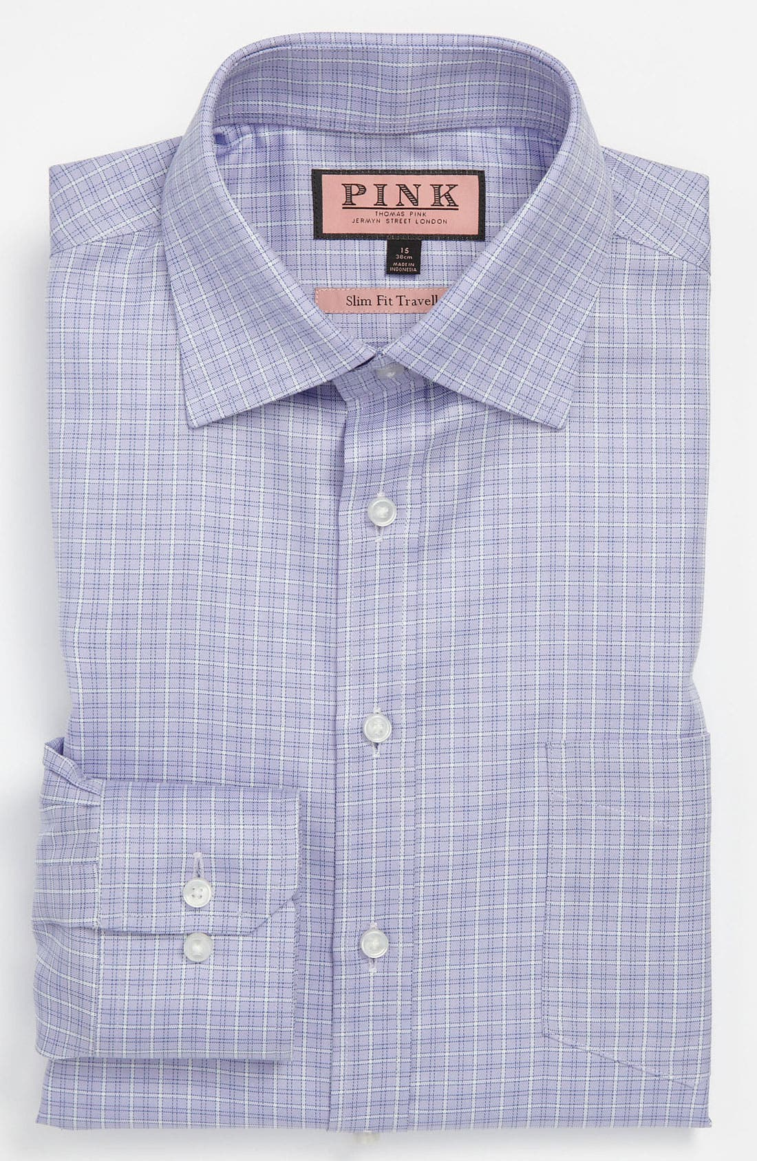 Alternate Image 1 Selected - Thomas Pink Slim Fit Traveller Dress Shirt