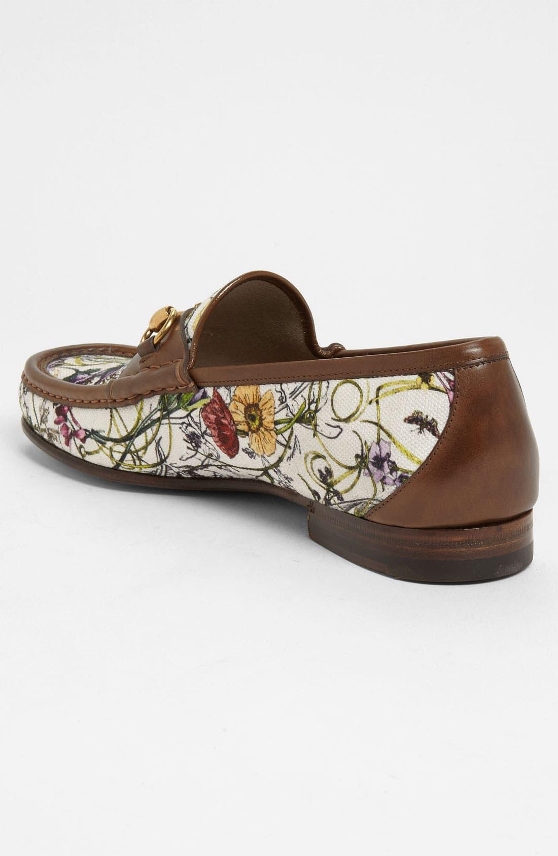 Alternate Image 2  - Gucci 'Roos' Floral Bit Loafer