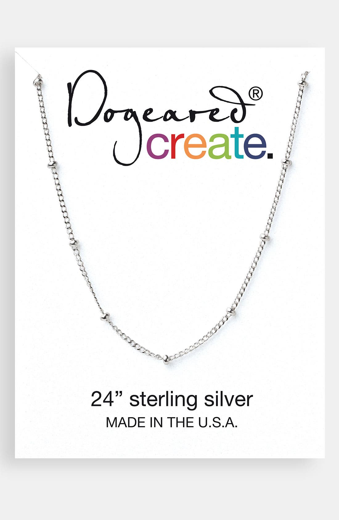 Alternate Image 1 Selected - Dogeared 'Create' Beaded Link Necklace