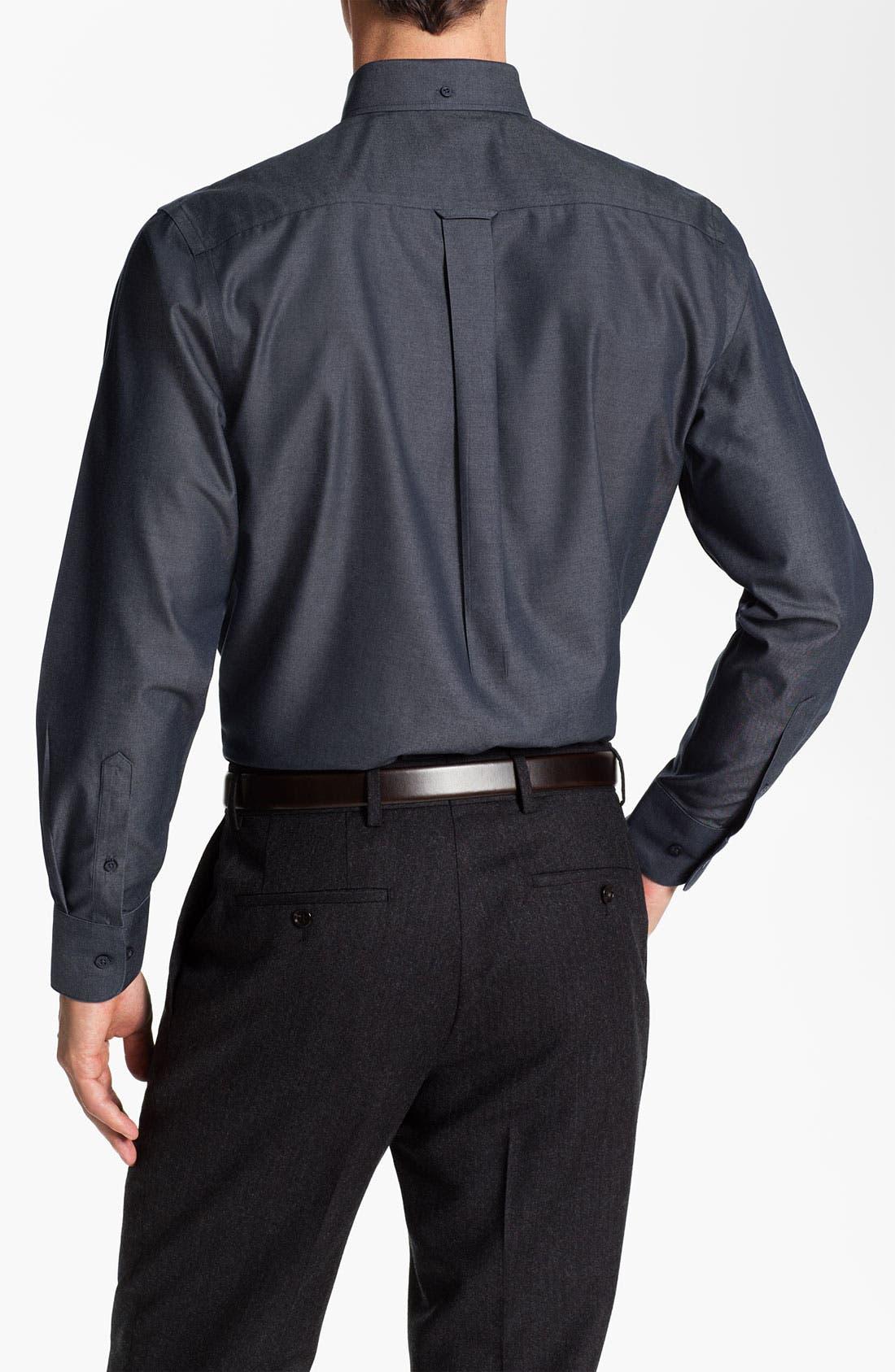 Alternate Image 2  - Nordstrom Traditional Fit Denim Sport Shirt