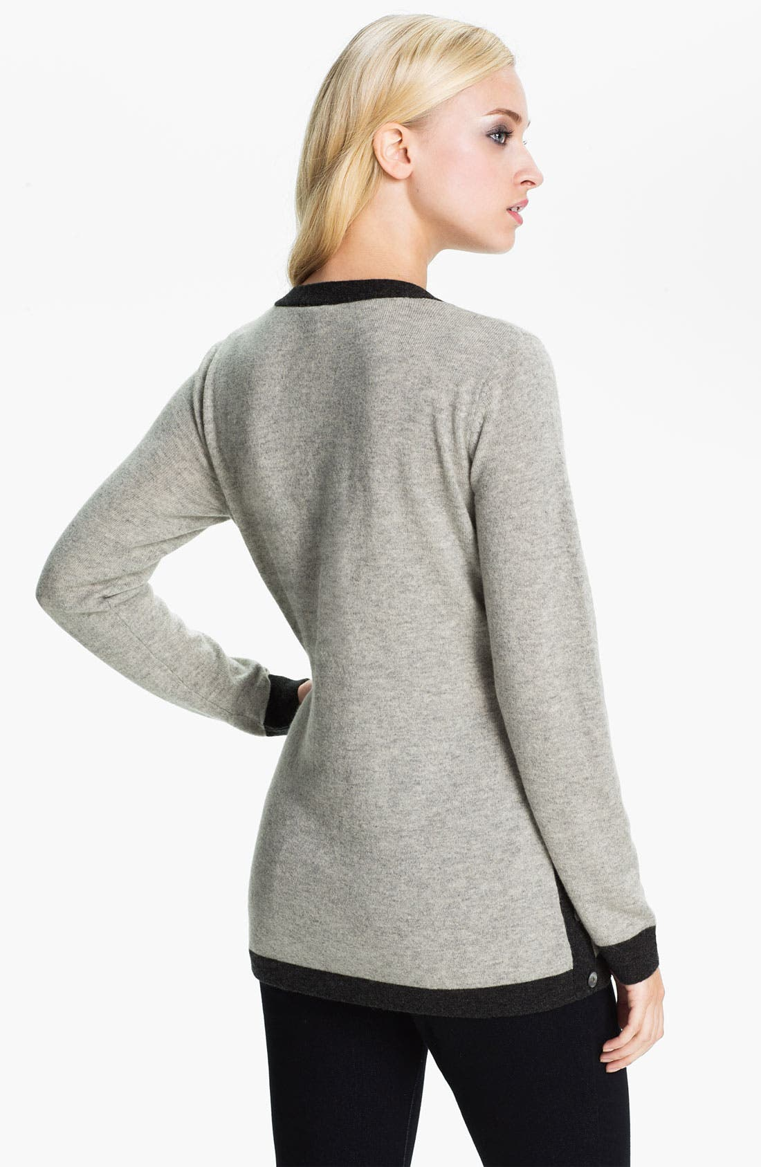 Alternate Image 2  - Beatrix Ost Tipped V-Neck Cashmere Sweater