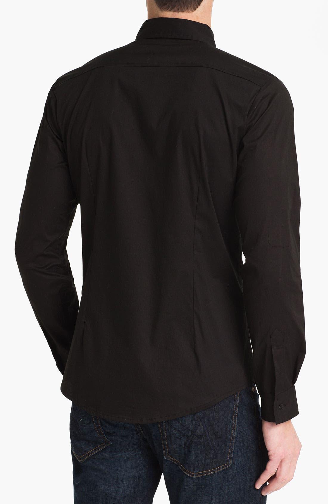 Alternate Image 2  - Paul Black Pleated Woven Shirt