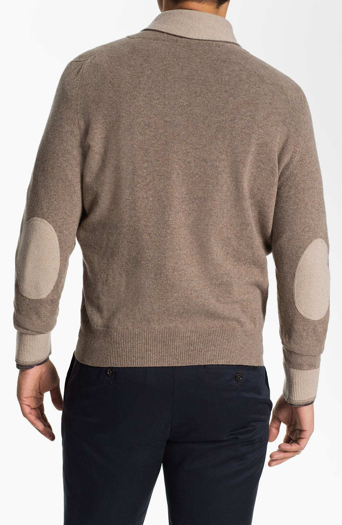 Alternate Image 2  - Orlandini Shawl Collar Wool & Cashmere Sweater