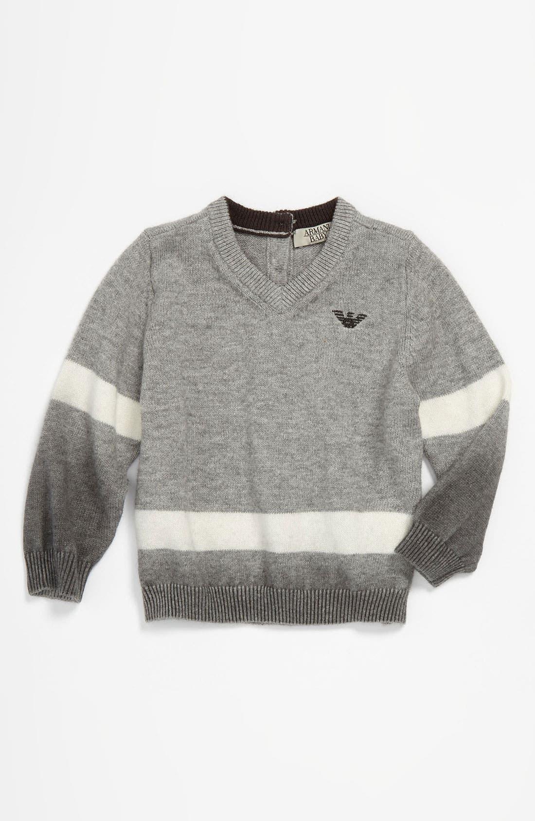 Alternate Image 1 Selected - Armani Junior Ombré Sweater (Infant)
