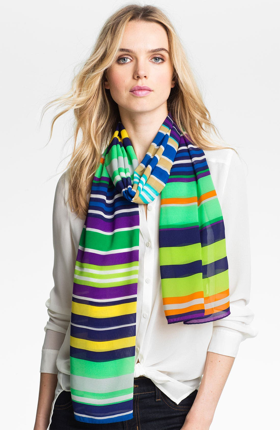 Alternate Image 1 Selected - Echo 'Spring' Stripe Scarf