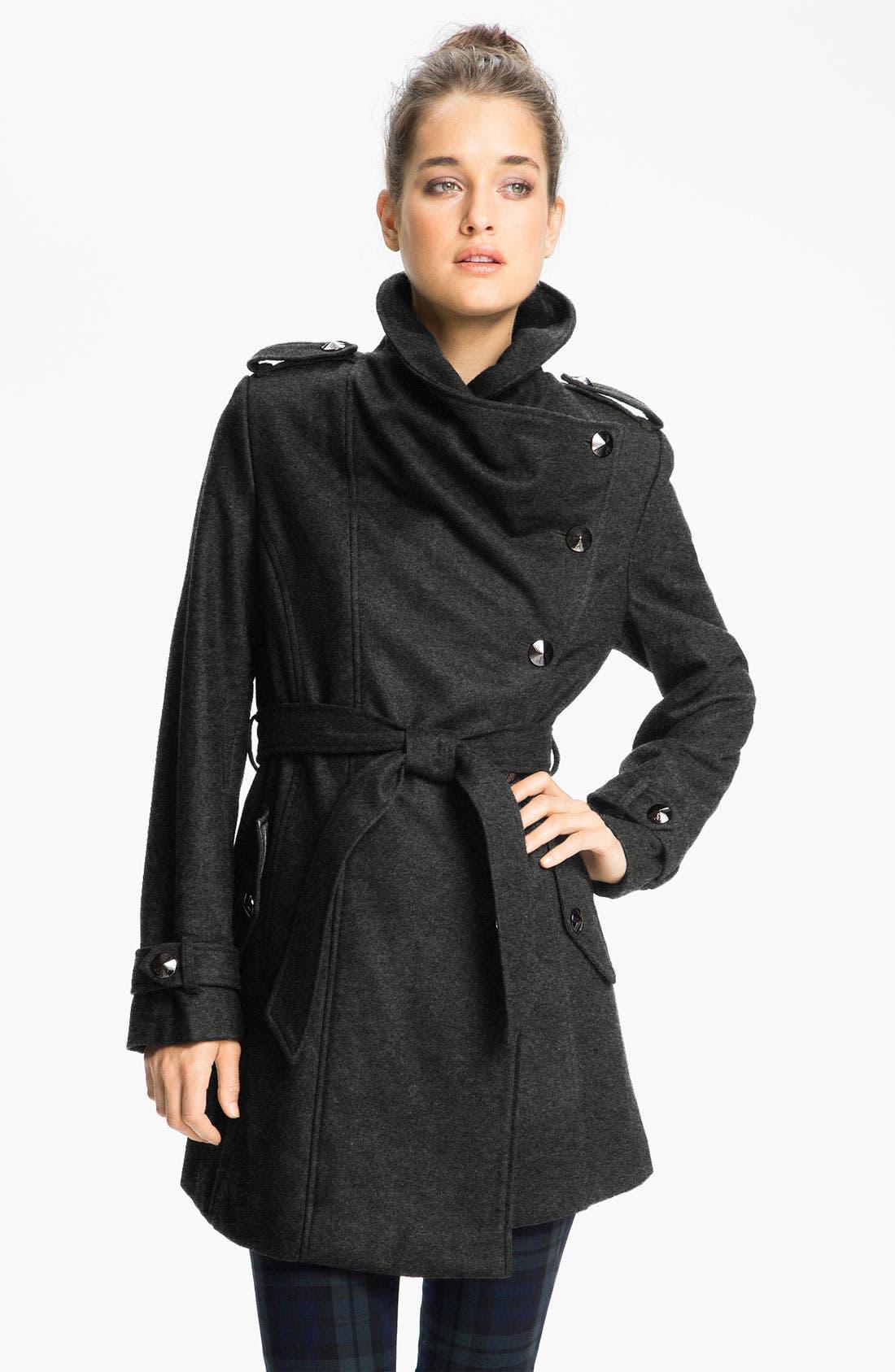 Alternate Image 1 Selected - Sam Edelman Asymmetrical Belted Coat (Online Exclusive)