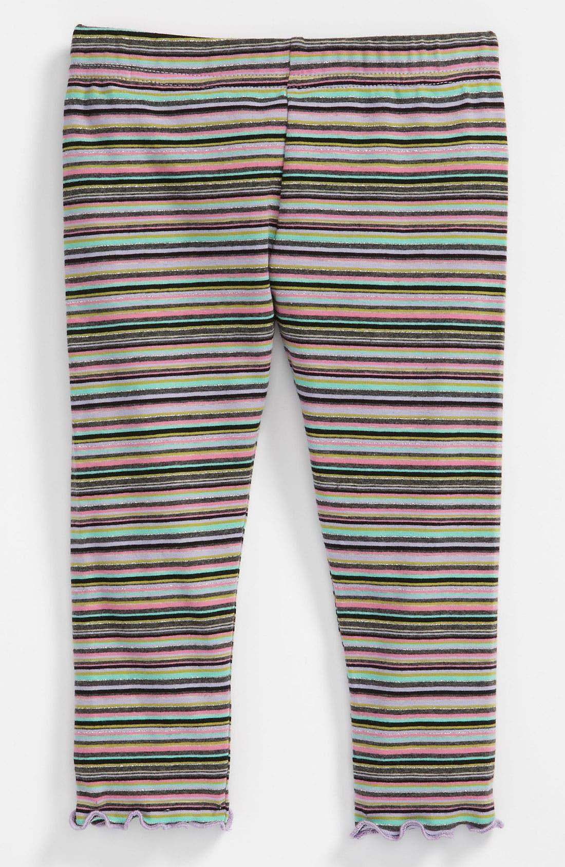 Alternate Image 1 Selected - Love U Lots Stripe Leggings (Toddler)