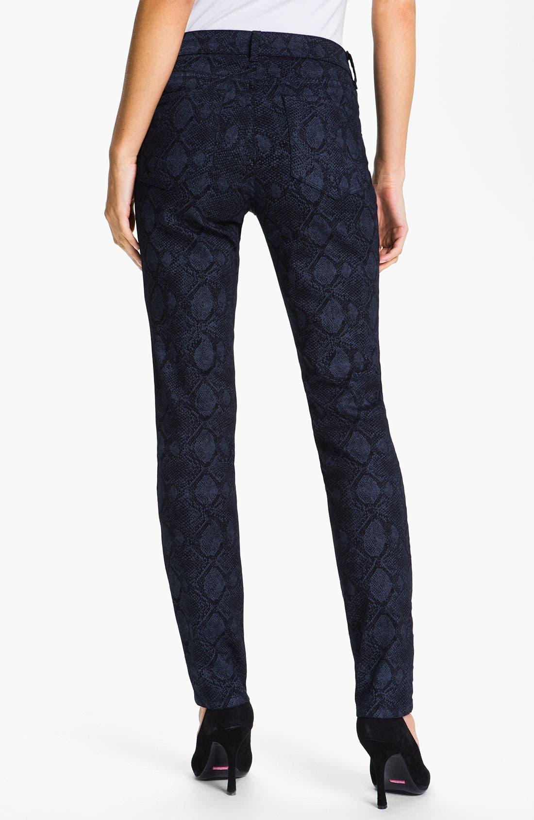 Alternate Image 2  - NYDJ 'Sheri' Metallic Print Skinny Twill Jeans