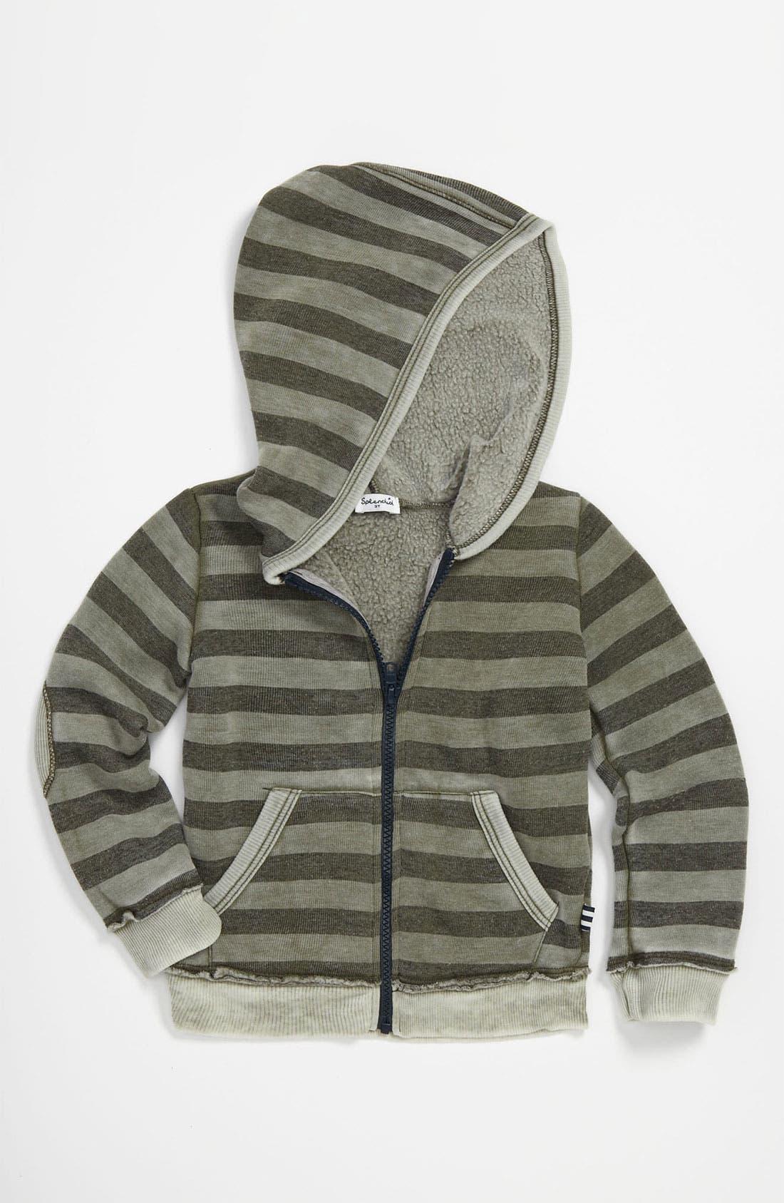 Main Image - Splendid Stripe Burnout Hoodie (Toddler)