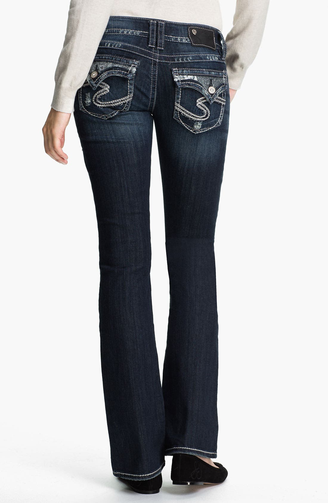 Alternate Image 1 Selected - Silver Jeans Co. 'Dawson' Boot-cut Jeans (Juniors)