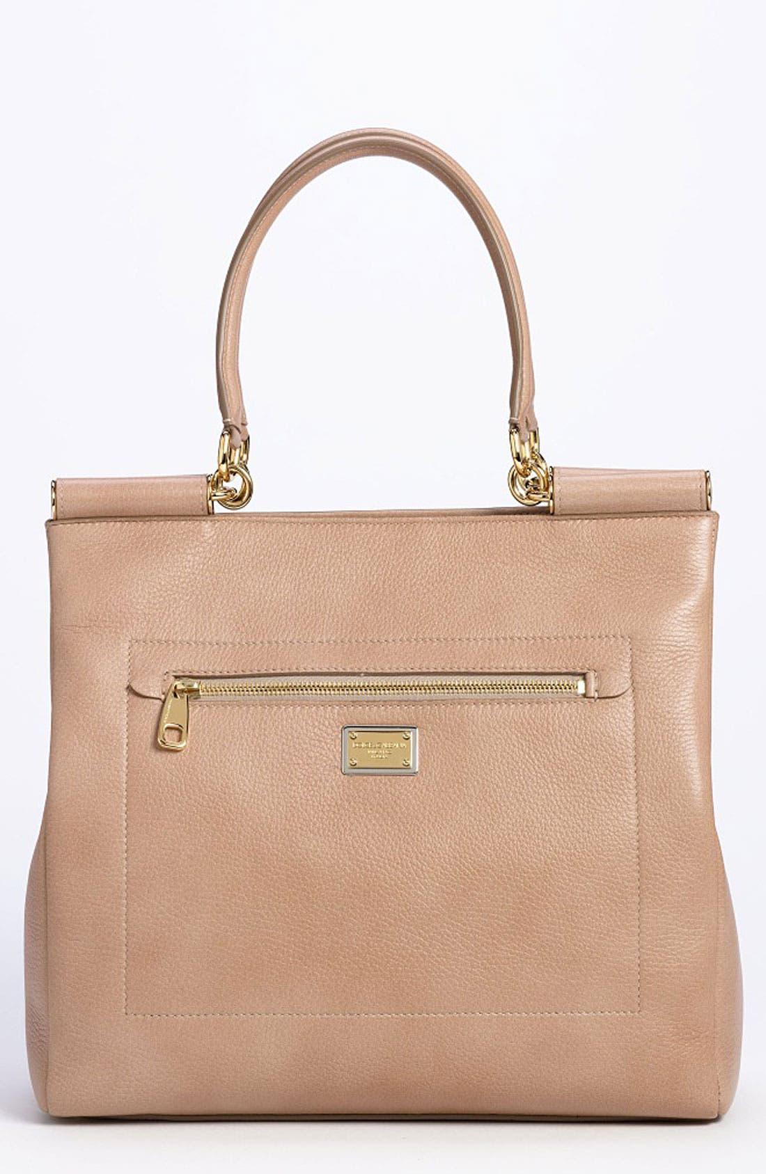 Alternate Image 1 Selected - Dolce&Gabbana 'Miss Sicily' Leather Shopper