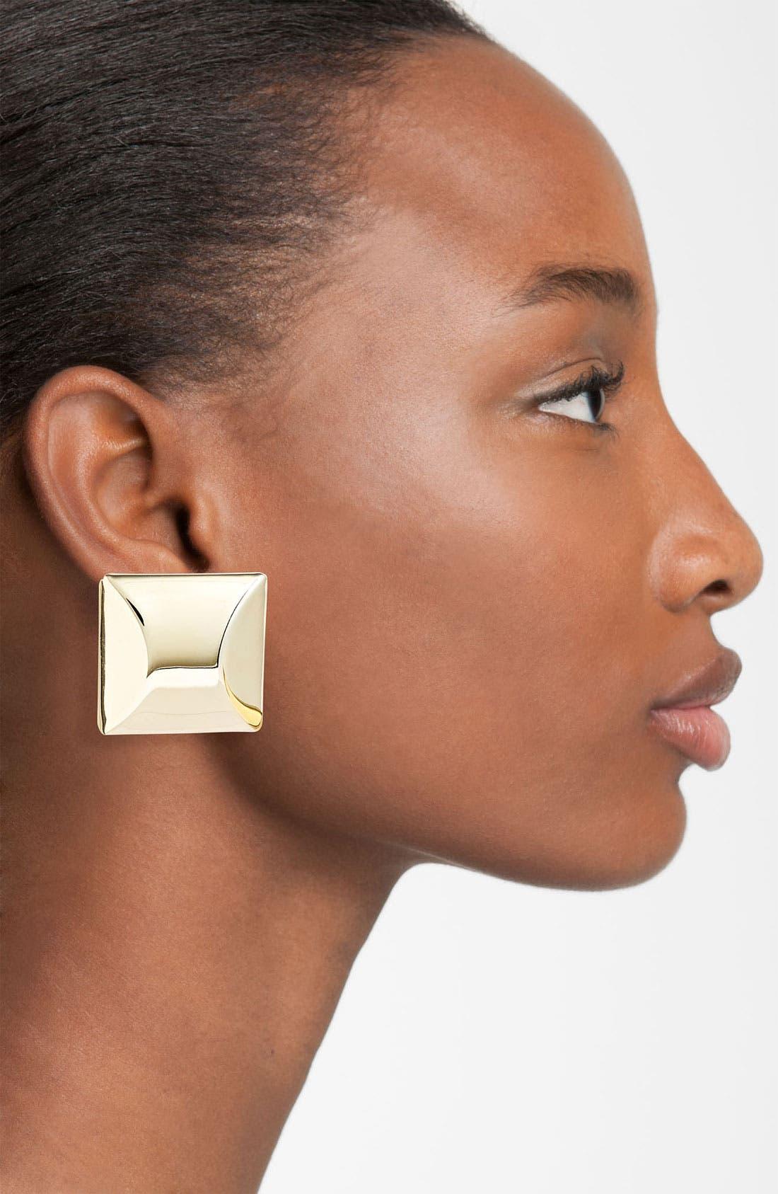 Alternate Image 2  - Adia Kibur Square Clip Earrings