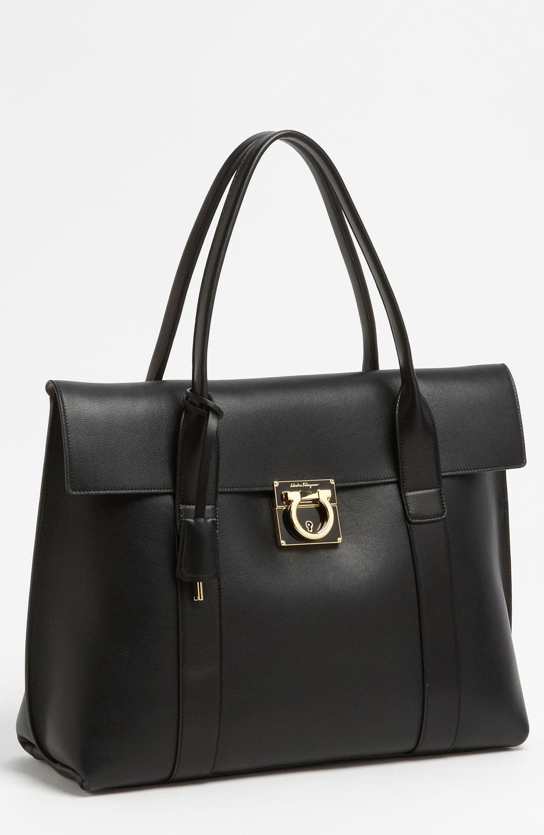 Main Image - Salvatore Ferragamo 'Large Sookie' Leather Satchel