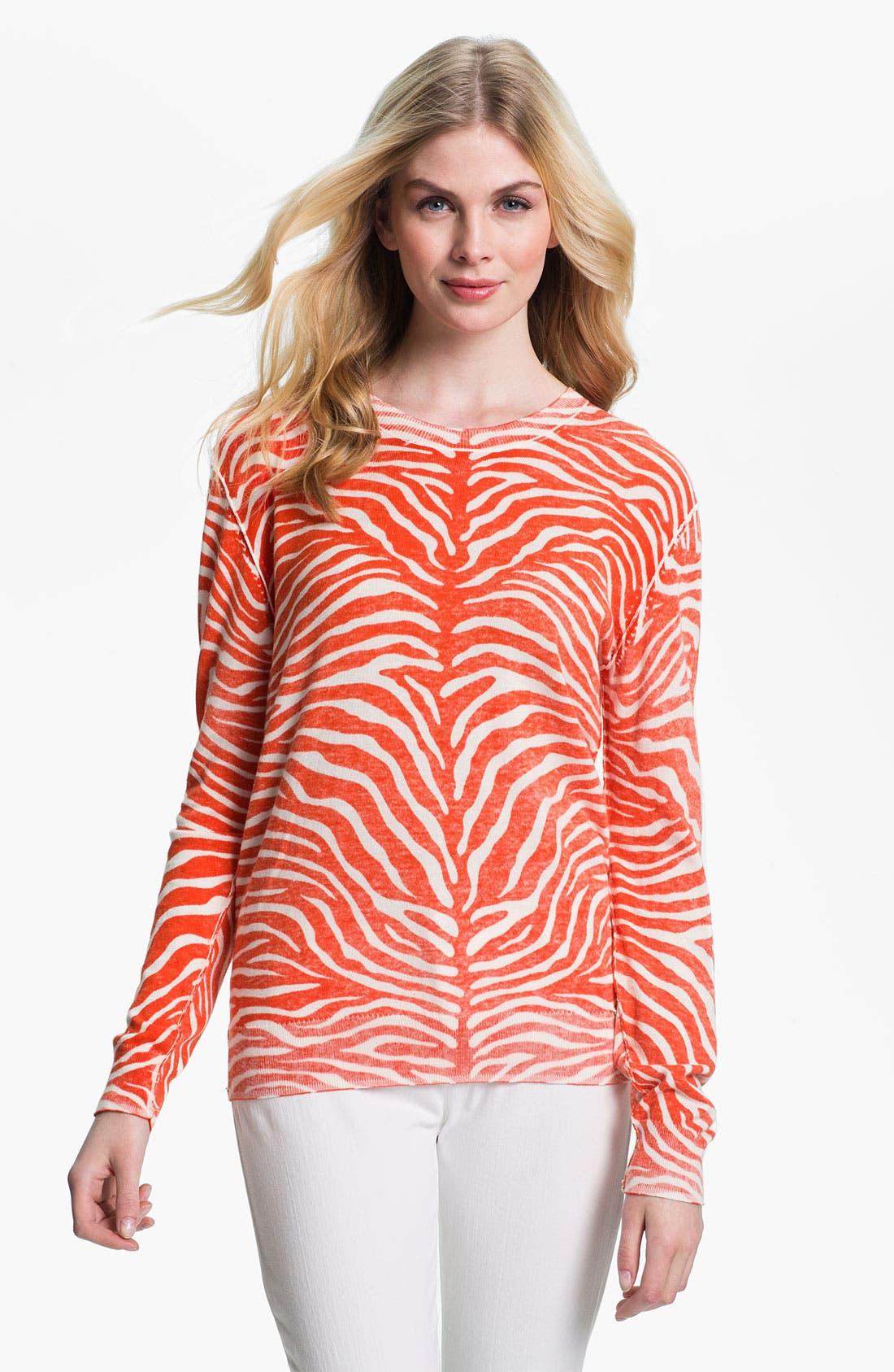 Alternate Image 1 Selected - MICHAEL Michael Kors Zebra Print Sweater