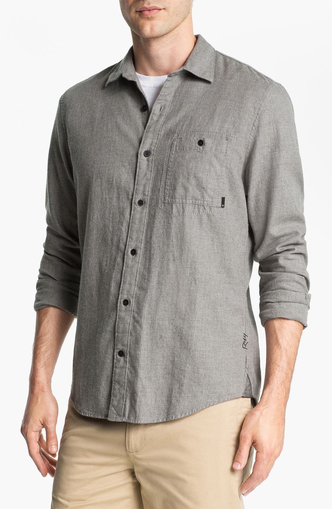 Alternate Image 1 Selected - R44 Rogan Standard Issue Grid Woven Shirt