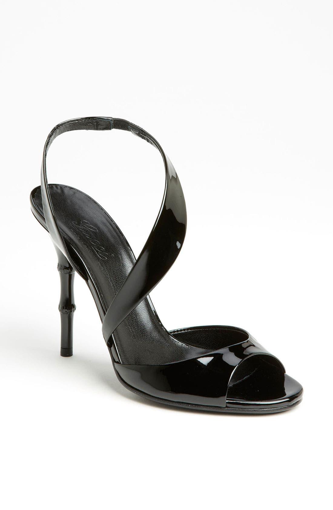 Main Image - Gucci 'Linda' Bamboo Heel Sandal