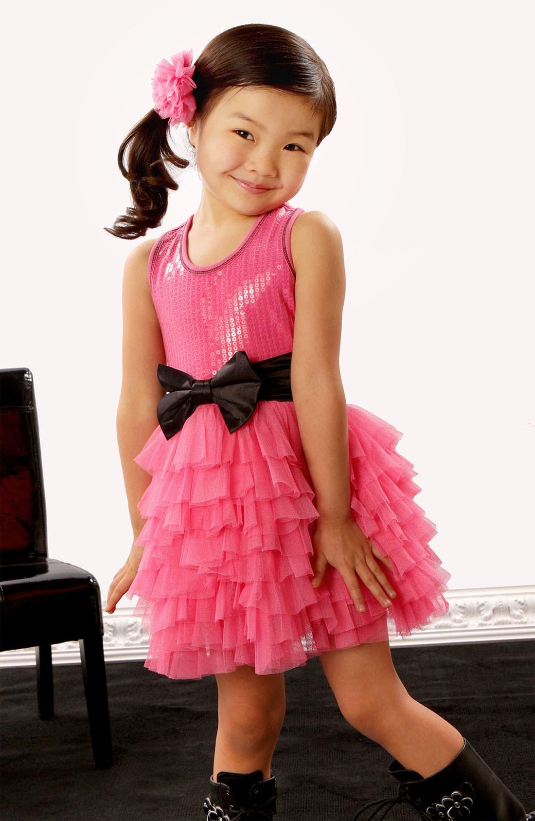 Alternate Image 2  - Ooh! La, La! Couture 'Wow' Sequin Tutu Dress (Little Girls)