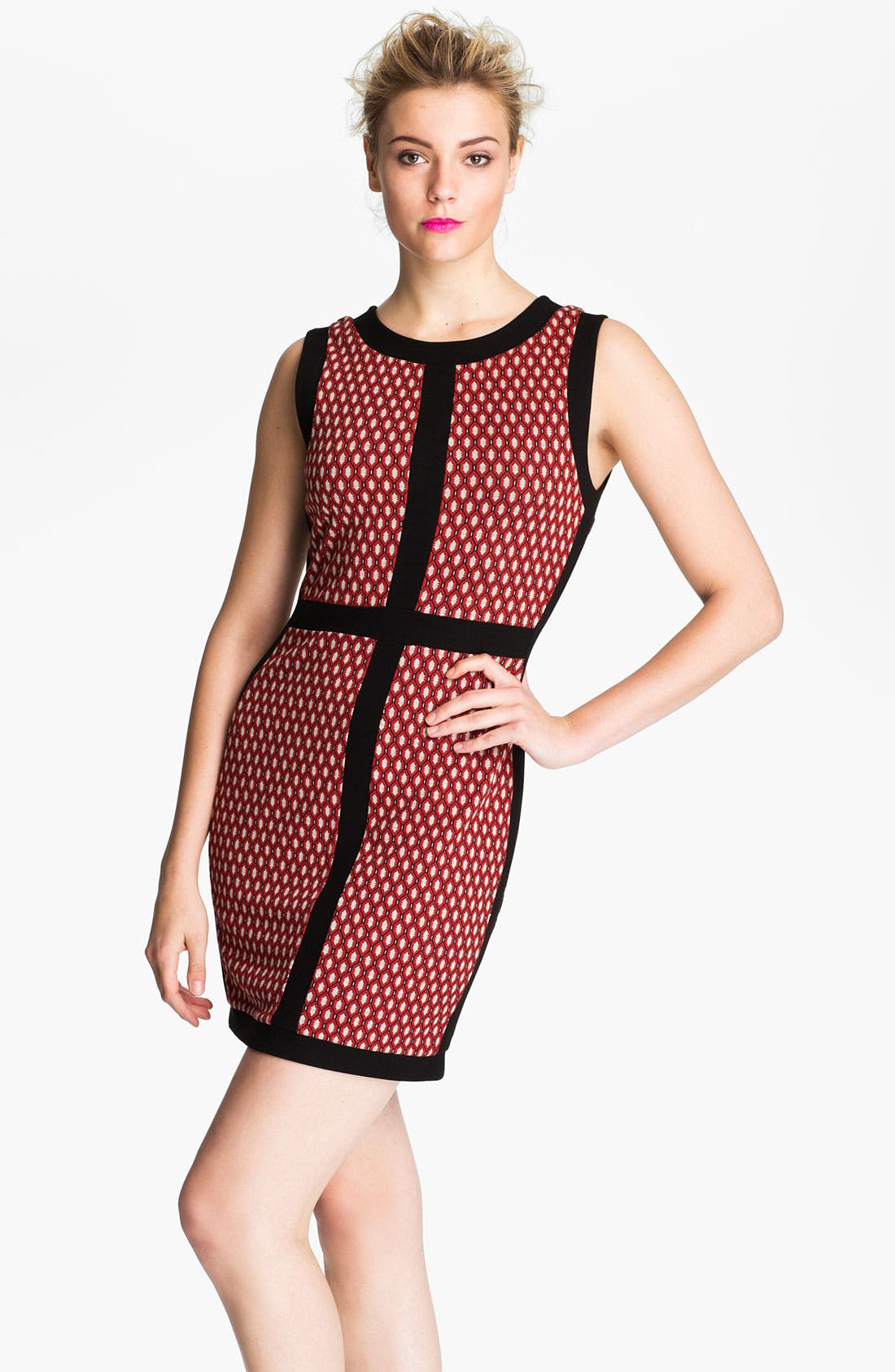 Alternate Image 1 Selected - Bailey 44 Print Window Pane Dress
