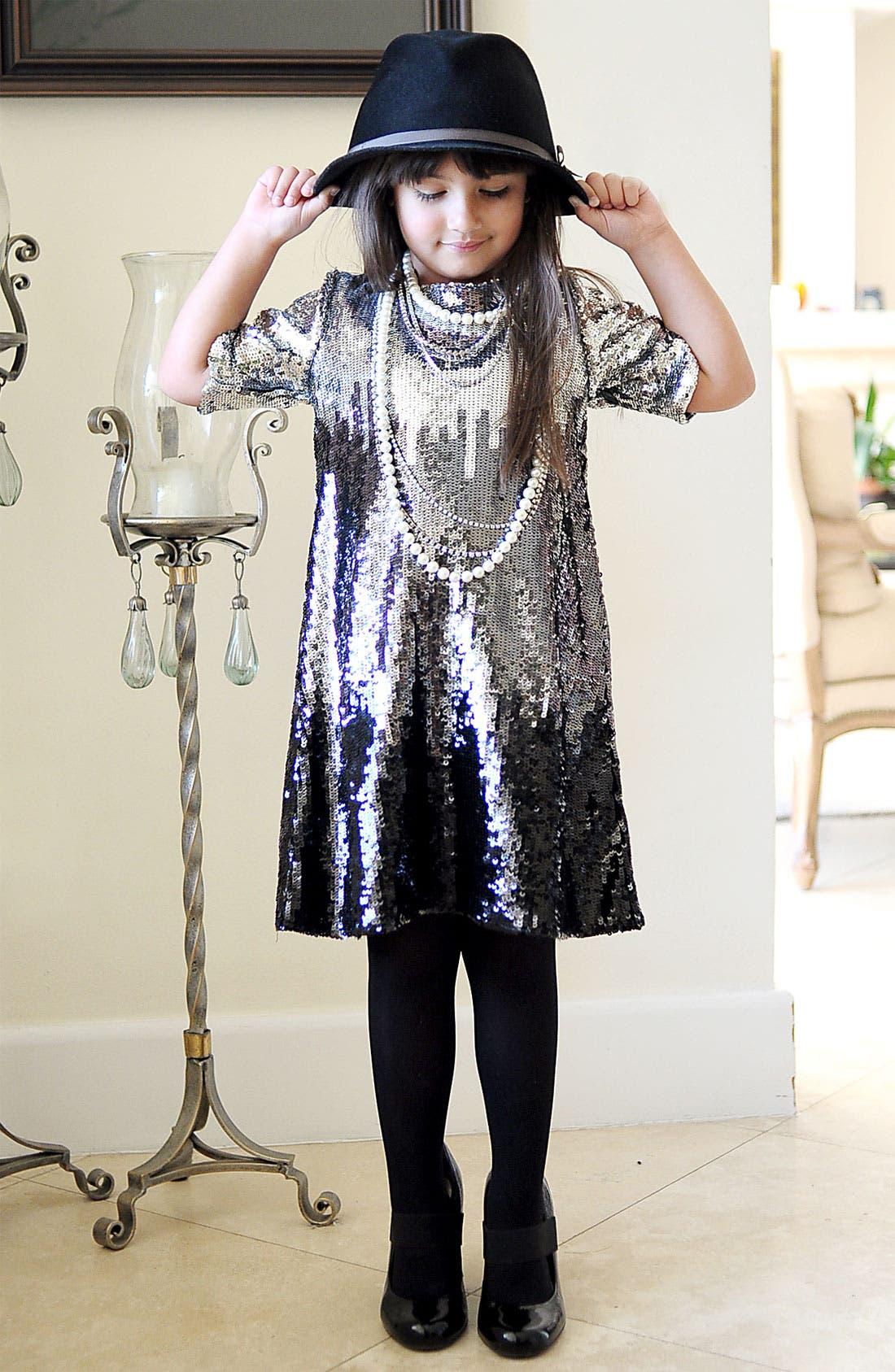 Alternate Image 2  - La Piccola Danza Kidswear Sequin Ombré Dress (Little Girls & Big Girls)