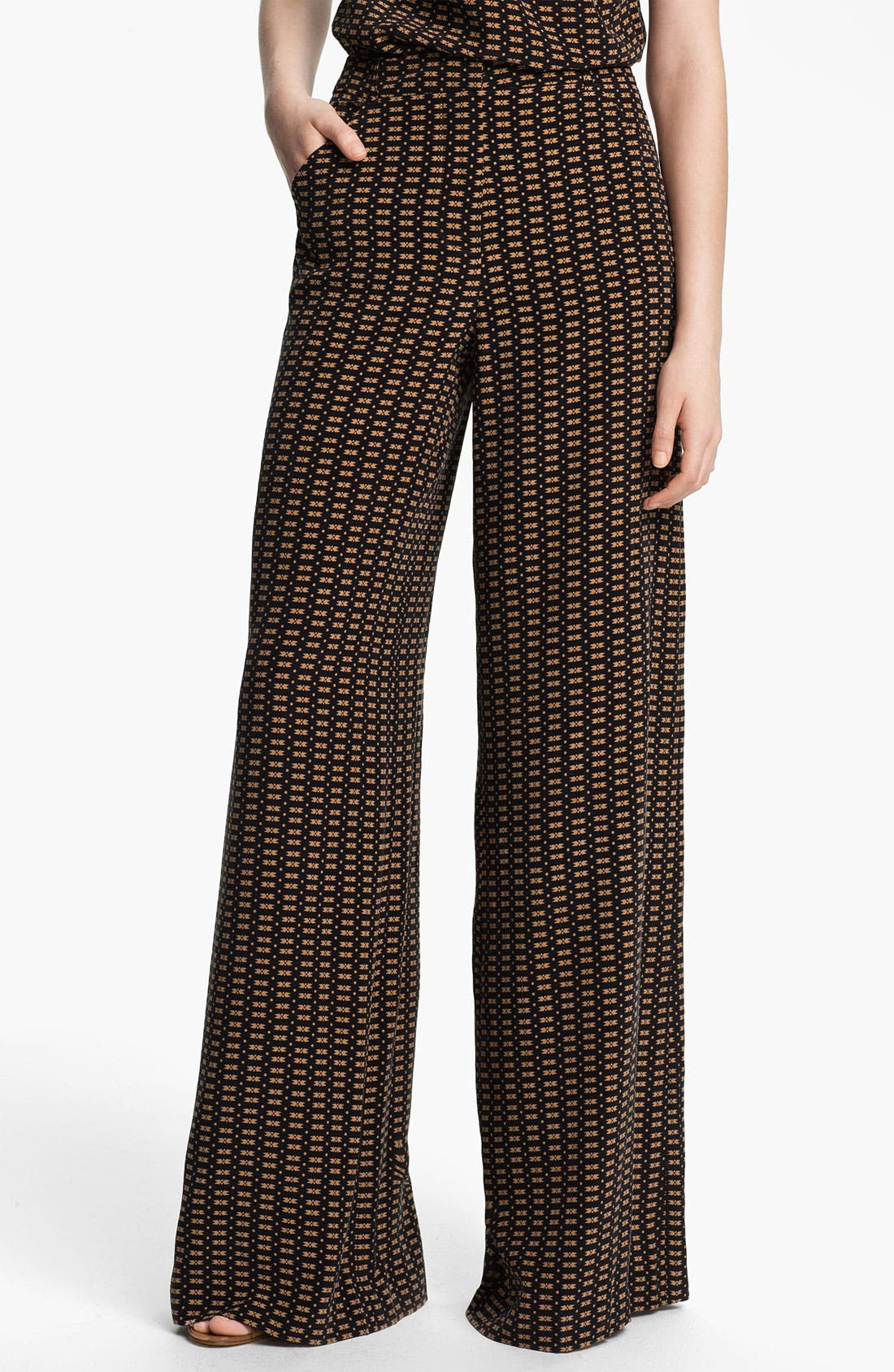 Alternate Image 1 Selected - Tracy Reese 'Motif Stripe' Palazzo Pants