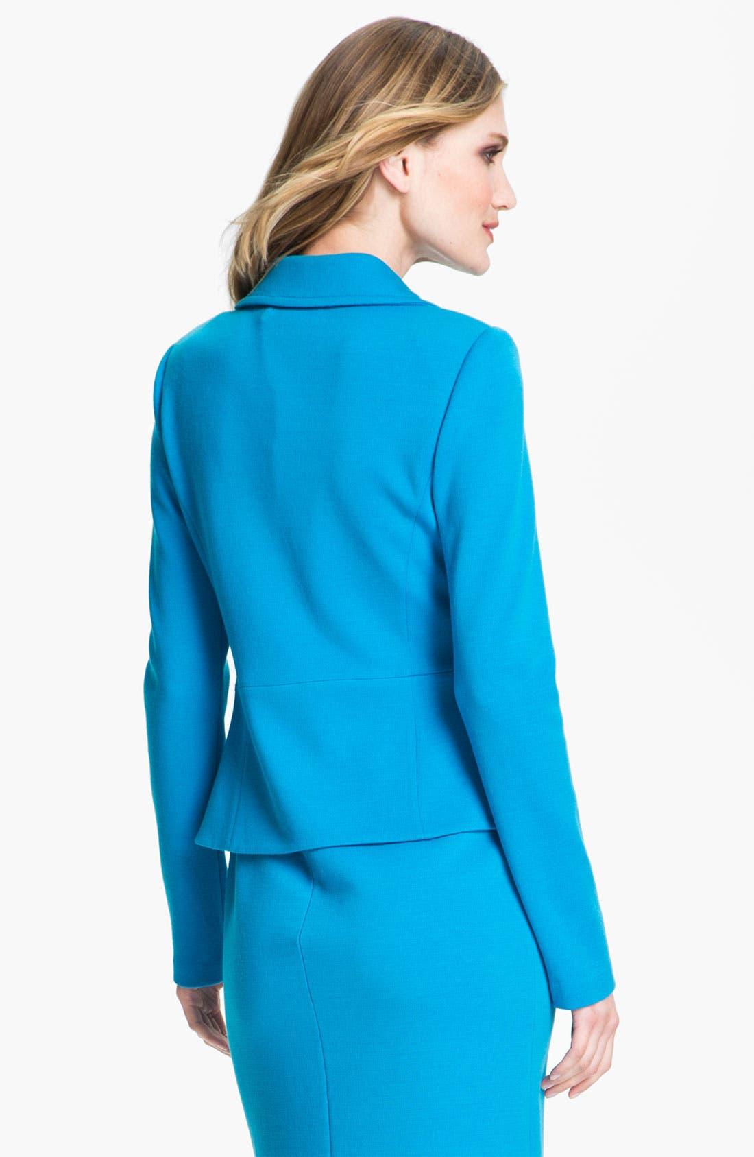 Alternate Image 3  - St. John Collection Milano Knit Peplum Jacket